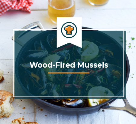 Wood Fired Mussels