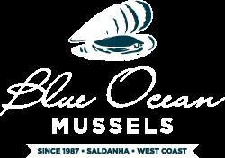 blue ocean mussels logo white