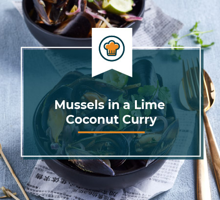 Mussels in a Lime Coconut Curry
