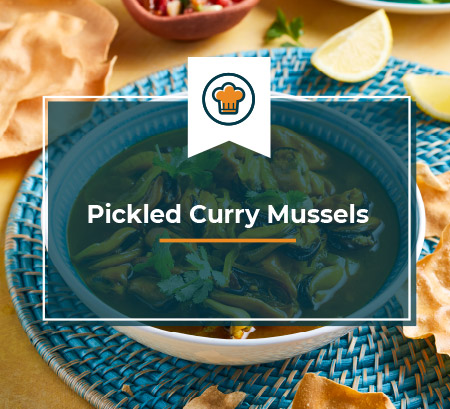 Pickled Curry Mussels