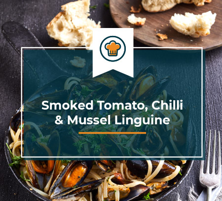 blue ocean mussels - smoked tomato chilli linguine